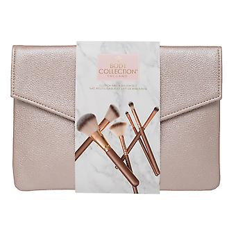 Body Collection Rose Gold Clutch Bag & Brush Gift Set