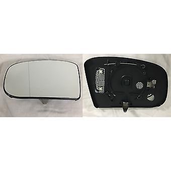 Linker passagierszijde spiegelglas (verwarmd) & houder voor Mercedes CLS 2004-2009