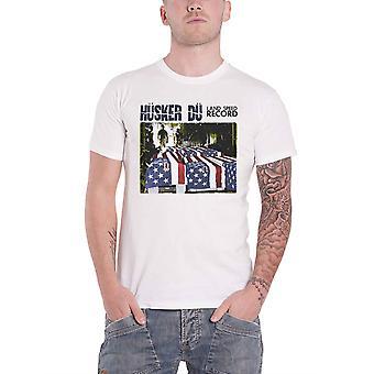 Husker Du T Shirt Land Speed Record Album Band Logo new Official Mens White