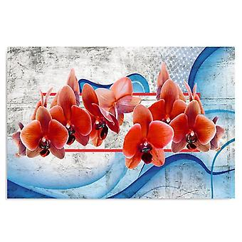 Deco Panel, Red Flowers