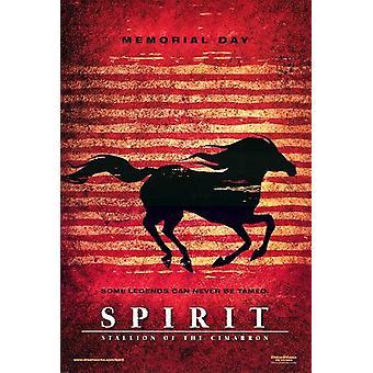الروح -- الفحل من سيمارون (مقدما مزدوجة من جانب) ملصق السينما الأصلي