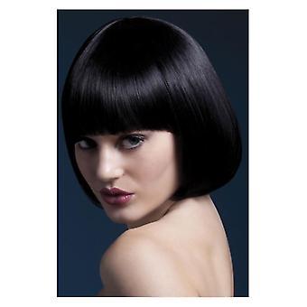 Febbre Mia parrucca, nero, corto Bob con frangia, 25cm/10 in costume accessorio
