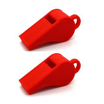 Whistle 2-pack PLA plastic 118+ Db red