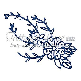 Spinning Charm Flower: dentelle lambeaux métal Die papier carte stephanie Halleman