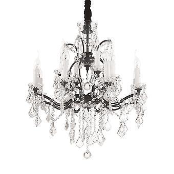 Ideal Lux Liberty 12 Light Pendant Light Black IDL166551