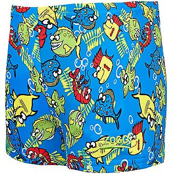Zoggs Boys Fishy business zwemmen hip racer badmode zwemmen shorts-blauw/multi
