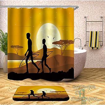 Afrikanische Jäger Duschvorhang