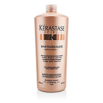 Kerastase Discipline Bain Fluidealiste Smooth-in-motion Shampoo (for All Unruly Hair) - 1000ml/34oz