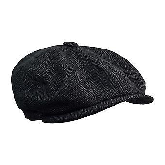 G&H Dark Grey Herringbone Newsboy Cap
