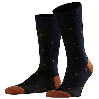 Falke dot sokken-donker Navy