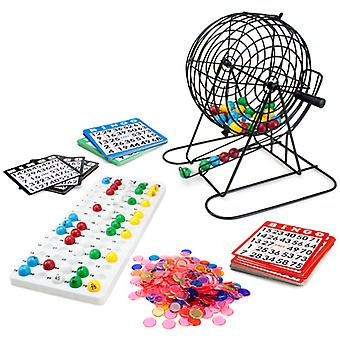 Jumbo Bingo Set - 9-Inch Metal Cage with Calling Board