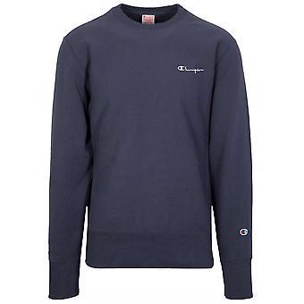 Kampioen reverse Weave Navy logo Sweatshirt