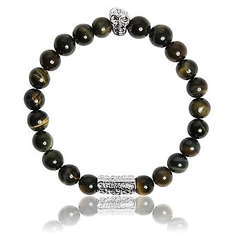 Lauren Steven Design ML004 Bracelet - Natural Stone Bracelet Eye of Blue Tiger Male