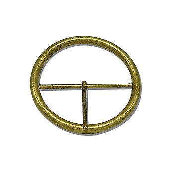 60mm Bronze Round Metal Buckle