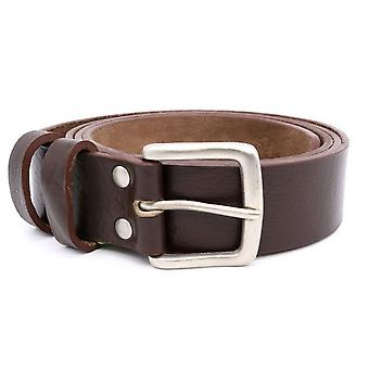 Duke Mens Liam Kingsize Square Buckle Leather Belt