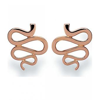 bastian inverun - 925/- silver studs rose gold plated, polished - 23430