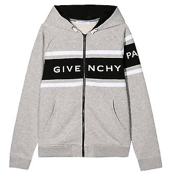 Givenchy Kids Logo Zip-up Hoodie