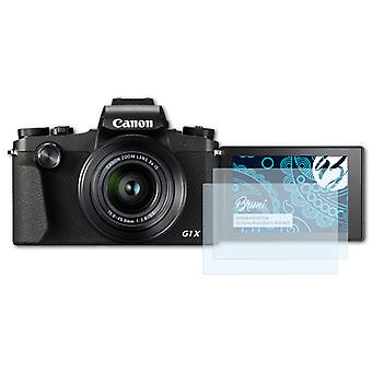Bruni 2x Screen Protector compatible with Canon PowerShot G1 X Mark III Protective Film
