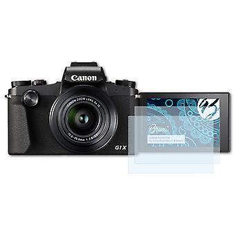 Bruni 2x Protecteur d'écran compatible avec Canon PowerShot G1 X Mark III Écran protecteur