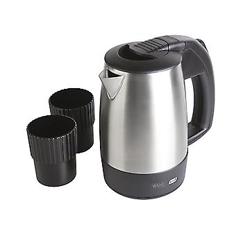Wahl Travel Kettle Stainless Steel 0.5L with 2 Travel Cups - Black (ZX946)