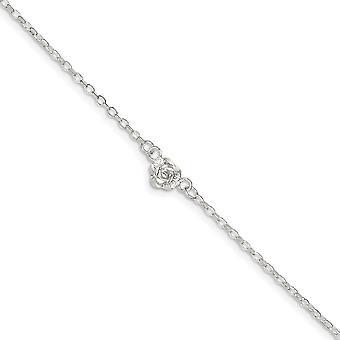 925 Sterling hopea kiillotettu hummeri kynsien sulkeminen Sun Charm Nilkkakoru 9 tuuman kevätrengas korut lahjat naisille