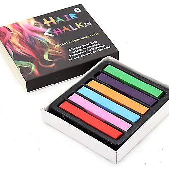 Temporary Hair Chalk Non Toxic Hair Dye Multicolour Soft Pastels Salon Kit
