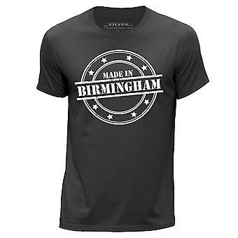 STUFF4 Men's Round Neck T-Shirt/Made In Birmingham/Dark Grey