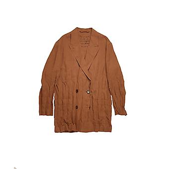 Acne Studios Ah0077adu Women's Brown Linen Blazer
