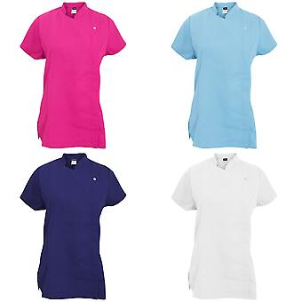 Dennys Womens/Ladies Asymmetric Zip Fastening Beauty Tunic (Pack of 2)
