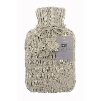 Country Club Cable Knit Hot Water Bottle, Natural