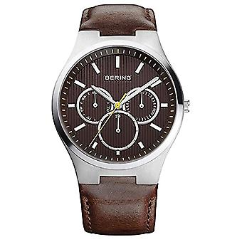 BERING Analog quartz men's watch with leather 13841-505