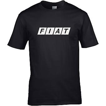 Fiat Worte B&W - Auto motor - DTG gedruckt T-Shirt