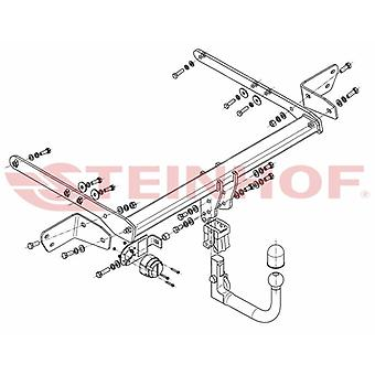 Automatyczny odłączany pasek holowniczy Steinhof (pionowy) dla Forda MONDEO Estate 2014-2018