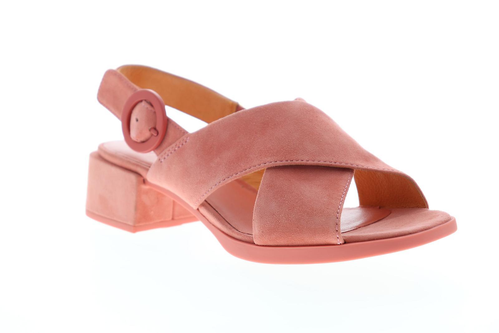 Camper Kobo Sandały Damskie Różowe Zamsz Slingback Sandały Buty r24SF