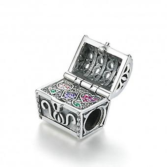 Sterling Silver Charm Treasure Chest - 5838