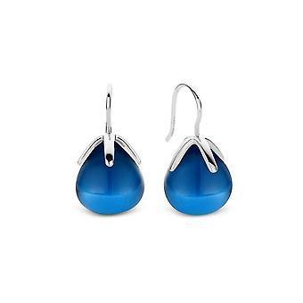 Ører Ti Sento Indigo indtryk 7794DB - spænder ører øreringe dinglende sølv blå knap blomst lille Model