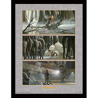 Star Wars Mission Dagobah kehystetty levy 30 * 40cm