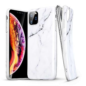 ESR Marble Backcover Hoesje iPhone 11 Pro - Wit