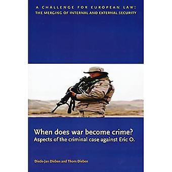 När blir krig brott?