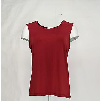 North Style Women's Top Scoop Neck Tank Burgundy Red