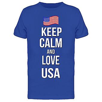 Keep Calm, Love U.s.a. Tee Men's -Bild von Shutterstock