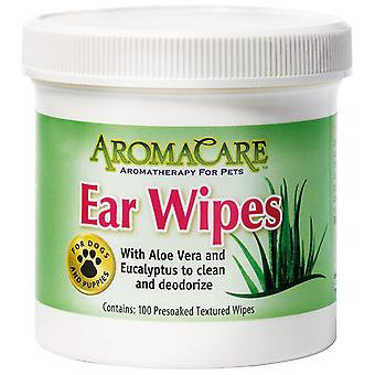 Professional Pet Products AromaCare Ear Wipes to Clean & Deodorize, 100 Pack