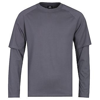 Edwin lange mouw Ebony honkbal T-shirt