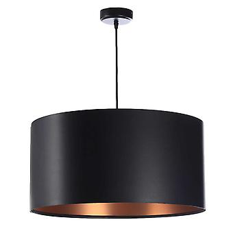 Lampe pendentif Feliza Latex noir & cuivre x 50 cm 10964