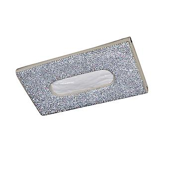 YANGFAN Full Diamond Car Sun Visor PU Leather Tissue Box