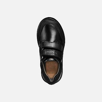 Geox Boys Leather Riddock Touch Fastening Shoe