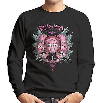 Rick ja Morty Head Split miesten ' s College pusero