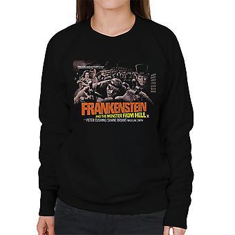 Hammer skräckfilmer Frankenstein monster från helvetet Grab kvinnor ' s tröja