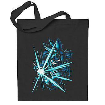 Blau Goku Kame Hame Dragon Ball Z Totebag