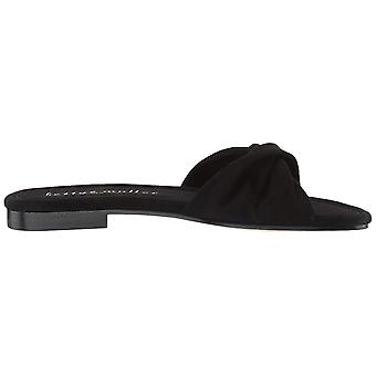 Bettye Muller Women's Shoes Score Suede Peep Toe Casual Slide Sandals